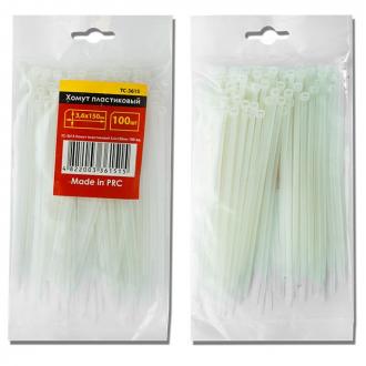 Хомут пластиковый 2,5x150 мм, (100 шт/упак), белый INTERTOOL TC-2515