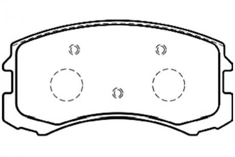 Тормозные колодки дисковые BP-5546