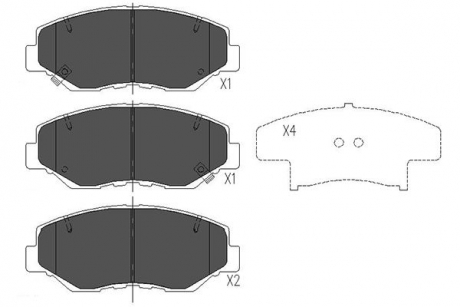 Тормозные колодки дисковые KBP-2034