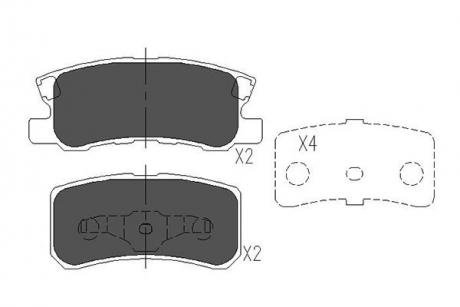 Тормозные колодки дисковые KBP-5515