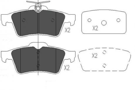 Тормозные колодки дисковые KBP-6554