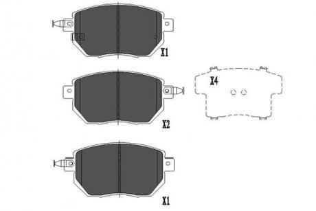 Тормозные колодки дисковые KBP-6573