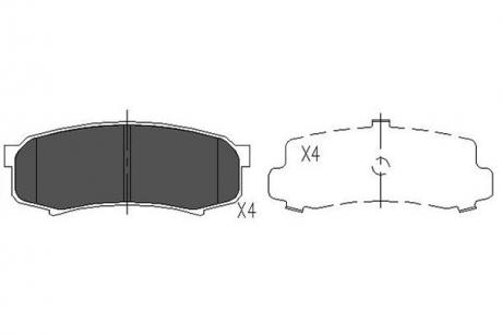 Тормозные колодки дисковые KBP-9007