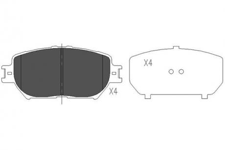 Тормозные колодки дисковые KBP-9070