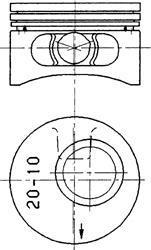 Поршень, комплект OPEL Ascona,Kadett,Omega,Vectra 2,0і 16V -98 90245620