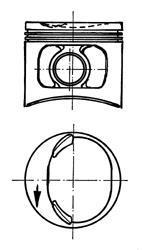 Поршень цилиндра ВАЗ 2108/2109 1,3 d = 76,4 П / К (П.П. + П.кольца) (пр-во KS) 93588610