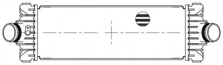 ОНВ (радиатор интеркулера) для а/м Ford Transіt (13-) 2.2TDCі (LRіC 1087) (LRіC 1087) LUZAR LRIC 1087
