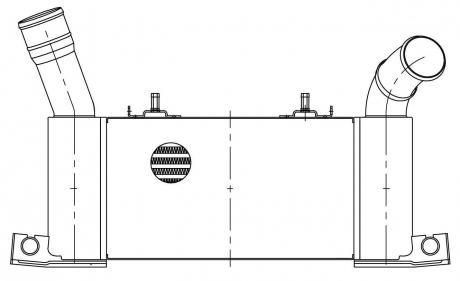 ОНВ (радиатор интеркулера) для а/м Mitsubishi Pajero IV (06-) 3.2D (LRIC 1152) LUZAR