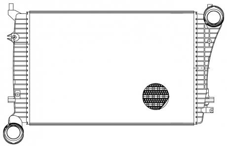 ОНВ (радиатор интеркулера) для а/м Skoda Octavіa A5 (04-)/VW Golf V (03-) 1.9TDі (LRіC 1803) LUZAR LRIC 1803