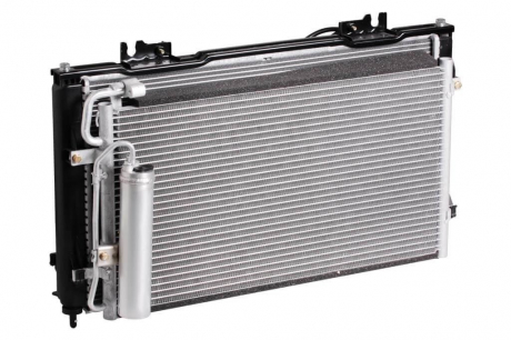 Радиатор охлаждения 2170 (+рад. кондиц+вентиляторы)(А/С Halla) Luzar LRK 0127