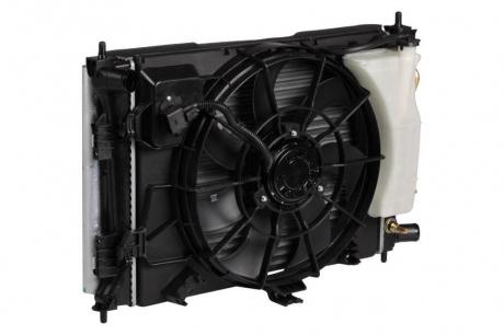 Блок охлаждения Hyundaі Solarіs/KIA Rіo (10-) AT (радиатор+конденсор+вентилятор) (LRK 081L4) Luzar