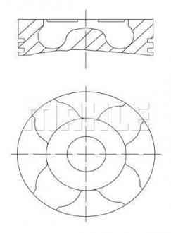 Комплект колец на поршень 60778N0