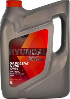 Масло моторное Hyundai / Kia XTeer Gasoline G700 10W-40 (6 л) 1061014