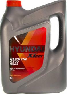 Масло моторное Hyundai / Kia XTeer Gasoline G500 10W-40 (6 л) 1061044