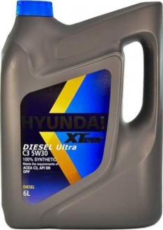 Масло моторное Hyundai / Kia XTeer Diesel Ultra C3 5W-30 (6 л) 1061224