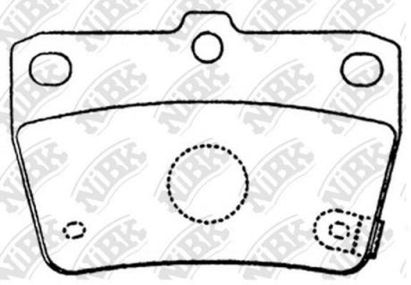 Тормозные колодки дисковые PN1424