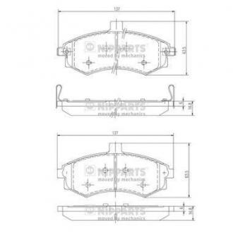 Тормозные колодки дисковые J3600535