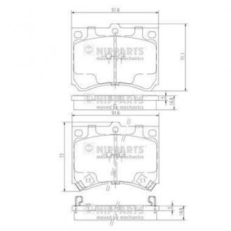 Тормозные колодки дисковые J3603035