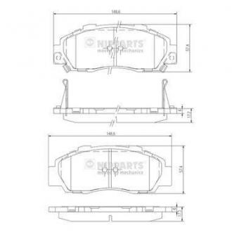 Колодки тормозные дисковые J3604032