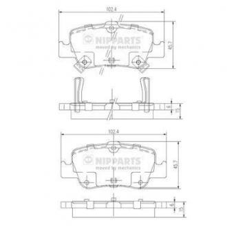 Тормозные колодки дисковые J3612033