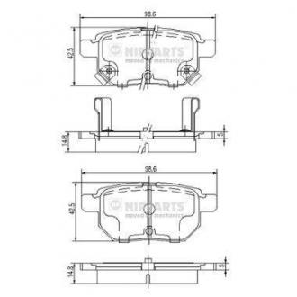 Тормозные колодки дисковые J3612034