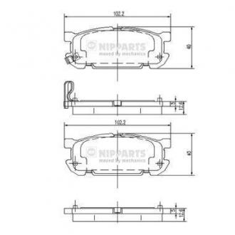 Колодки тормозные дисковые J3613020