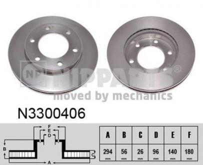 N3300406 NIPPARTS Тормозной диск
