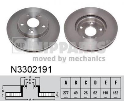 N3302191 NIPPARTS Тормозной диск