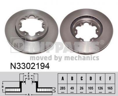 N3302194 NIPPARTS Тормозной диск