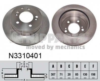N3310401 NIPPARTS Тормозной диск
