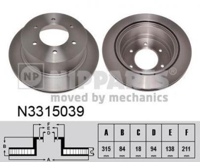 N3315039 NIPPARTS Тормозной диск