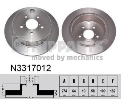 N3317012 NIPPARTS Тормозной диск