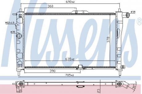 Радиатор системы охлаждения 61651A