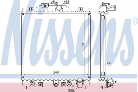 Радиатор системы охлаждения 633081