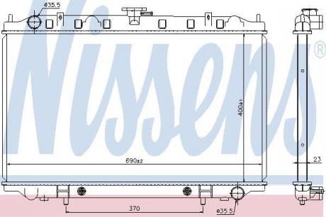 Радиатор системы охлаждения 67352