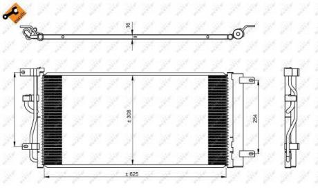 350225 NRF Радиатор кондиционера