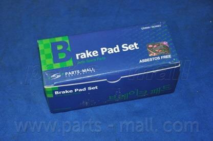 Колодки тормозные дисковые (PARTS-MALL) PKF-010