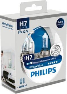 Лампа накаливания H7 12V 55W PX26d XENON effect (пр-во Philips) 12972WHVSM