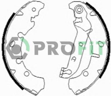 Колодки тормозные барабанные 5001-0635