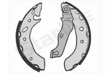 Тормозные колодки барабанные, к-кт. BC 07175