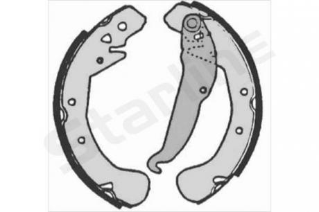 Тормозные колодки барабанные, к-кт. BC 07200