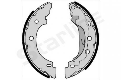 Тормозные колодки барабанные, к-кт. BC 07330
