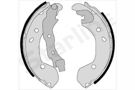 Тормозные колодки барабанные, к-кт. BC 08180
