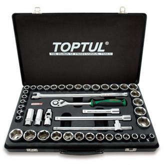 """Комбинированный набор инструментов TOPTUL 1/2 """"(дюйм + метр.) 46ед. GCAD4601"""