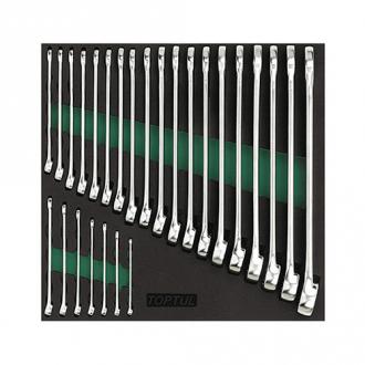 Набор ключей комбинированных 26 шт 6-32 в ложементе TOPTUL GVC2604