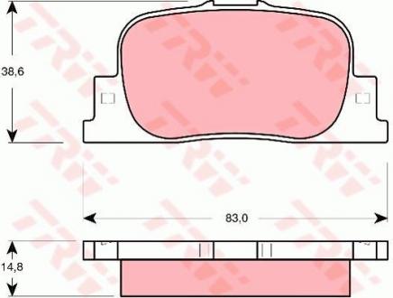 Комплект гальмівних колодок GDB3278