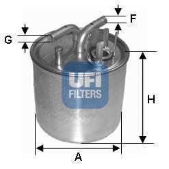 24.002.00 UFI Топливный фильтр