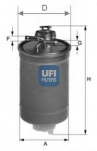 24.003.00 UFI Топливный фильтр