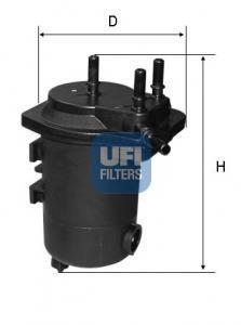 24.052.00 UFI Топливный фильтр