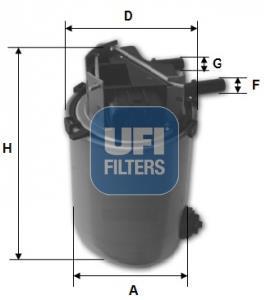 24.061.01 UFI Топливный фильтр
